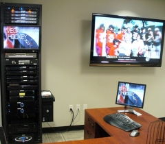 Panthers Rack With Editing System Design and HDTV System Installation Service in Boca Raton