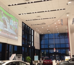 Rick Case Kia Side Show Room With Lighting Control Systems in Boca Raton and Palm Beach