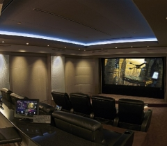 Media Room With Video and Surround Sound System Throughout Florida