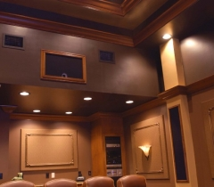 Media Room With Luxurious Interior Design In Boca Raton