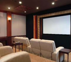 Media Room With Complete Home Theater System