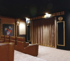 Media Room With Luxurious Home Theater Design in Boca Raton