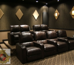 Home Theater Design With Leather Seats in Boca Raton
