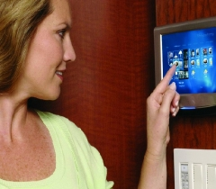 Wall-Mounted Touchscreen Menu In Your Home