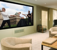 Media Living Room With the Perfect Audio and Video Quality