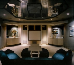 Home Theater Media Room With HDTV Screens