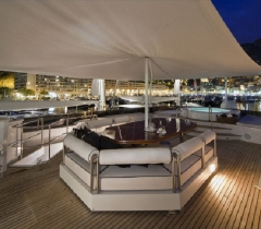Outside Deck Yachts Area With Lighting Control and Communication Systems in Boca Raton