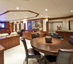 Yacht Living Room Area With Lighting Control in Boca Raton and Palm Beach