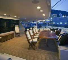Outside Deck Yachts Area With Lighting Control and Communication Systems in Boca Raton, Palm Beach and Throughout South Florida