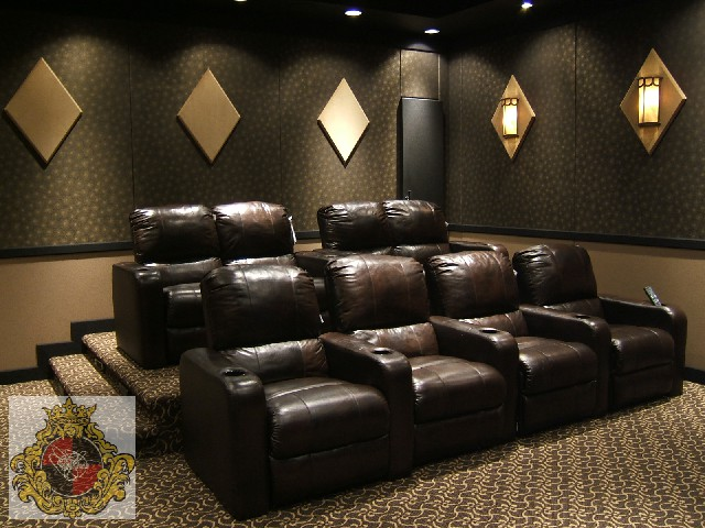 Home Theatre with leather seats Boca Raton