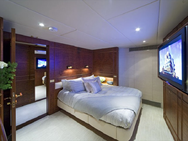 Luxurious stateroom with complete HDTV and audio system
