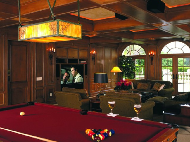 Media and game room for your family's entertainment