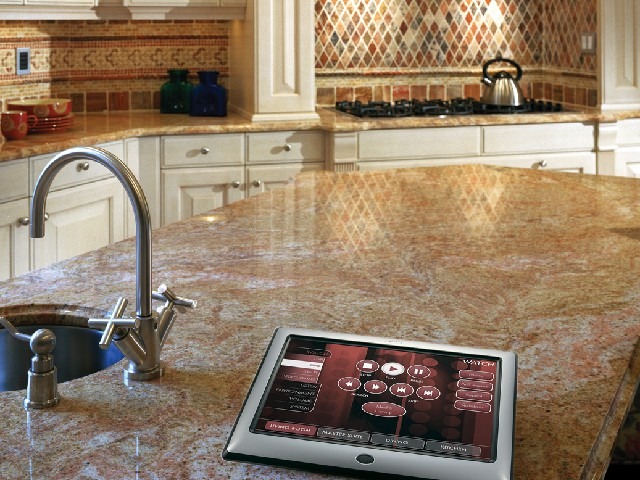 Modern Kitchen with home automation in Boca Raton