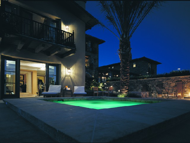 Ouside Pool with lights