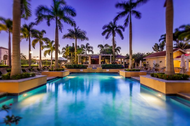 Treasure Point Outdoor pool lighting