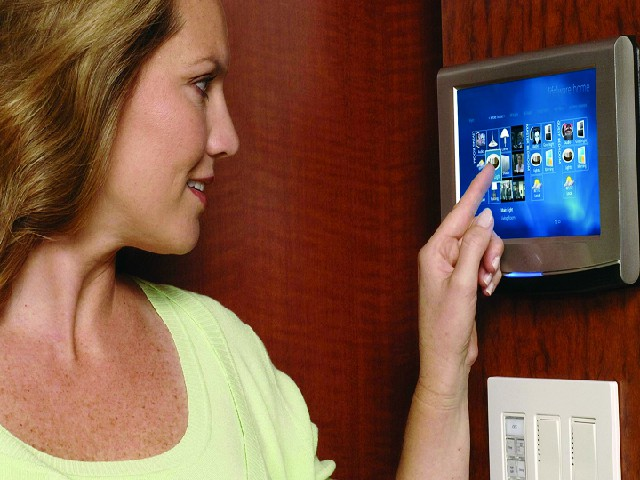 wall mounted touchscreen in your home